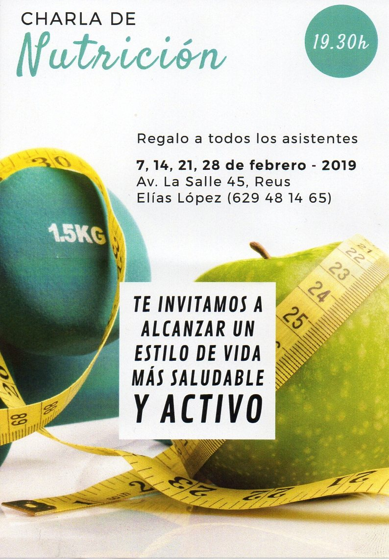 Esdeveniment al MO, Xerrada Nutricio, febrer 2019