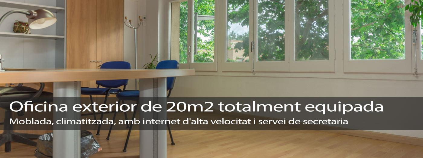 Despatx exterior 20m2