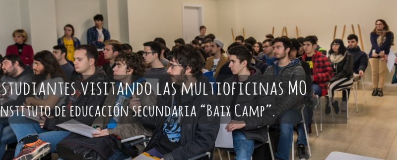 Multioficinas mo Reus estudiantes IES Baix Camp nos visitan