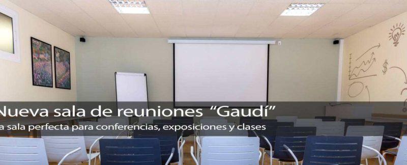 Sala Gaudí de reuniones; multioficinas mo reus, tarragona