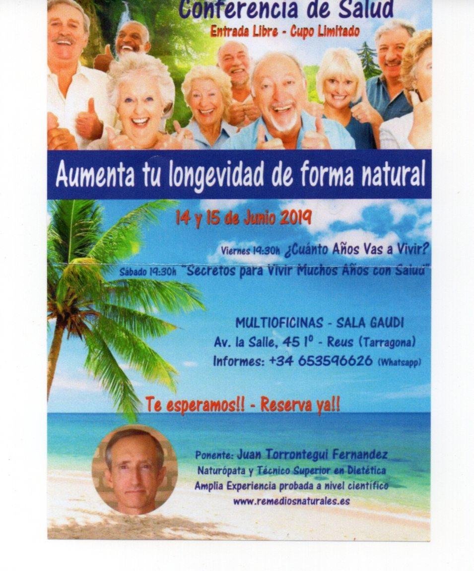 conferencia longevidad en el MO, Reus